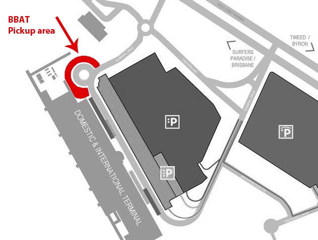 BBAT Gold Coast Airport Pickup Area